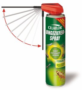 Celaflor Ungeziefer-Spray, Kontaktspray gegen schwer bekämpfbares Ungeziefer mit Sofort- und Langzeitwirkung, geruchlos